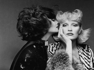 Vogue - July 1974 - Two Models Wearing Bill Blass and Bulgari