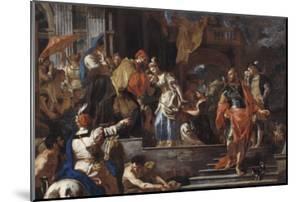 Le départ de Rebecca by Francesco Solimena