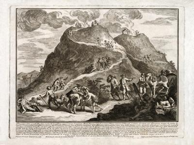 Perspective of the Second Eruption of Vesuvius, Published 1750 by Francesco Spagnolo Perziado