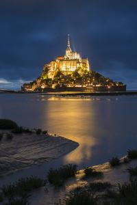 Cloudy sky at dusk, Mont-St-Michel, UNESCO World Heritage Site, Normandy, France, Europe by Francesco Vaninetti