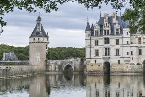 Detail of Chenonceau castle, UNESCO World Heritage Site, Chenonceaux, Indre-et-Loire, Centre, Franc by Francesco Vaninetti