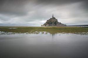 Mont-St-Michel, UNESCO World Heritage Site, Normandy, France, Europe by Francesco Vaninetti