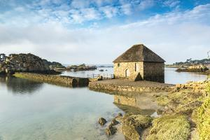 Tide mill on Brehat island, Cotes-d'Armor, Brittany, France, Europe by Francesco Vaninetti