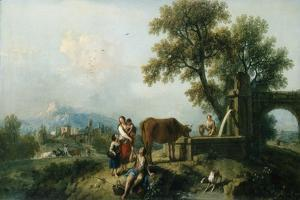 A Pastoral Scene with Cowherds, C.1750 by Francesco Zuccarelli