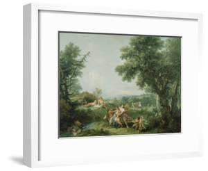 Landscape with the Education of Bacchus, 1744 by Francesco Zuccarelli