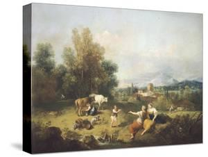 Landscape with Young Shepherdesses by Francesco Zuccarelli