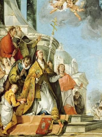 Pope Benedict and Saint Louis XI of France