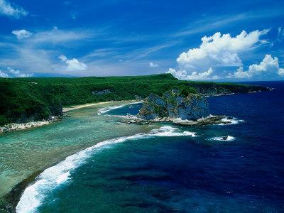 Aerial of Bird Island, Saipan
