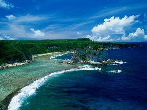 Aerial of Bird Island, Saipan by Francie Manning
