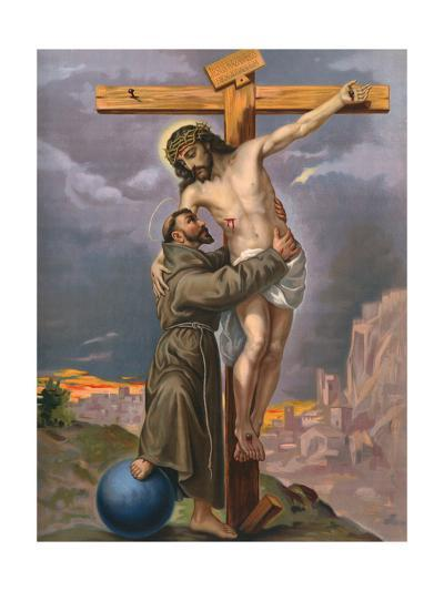 Francis and Jesus--Giclee Print