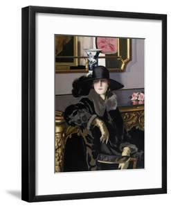 A Lady in Black by Francis Campbell Boileau Cadell