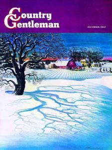 """Christmas 1947,"" Country Gentleman Cover, December 1, 1947 by Francis Chase"
