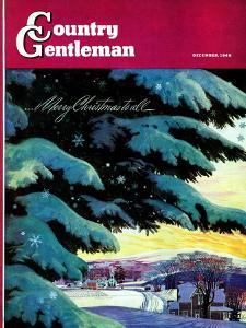 """Nebraska Christmas Scene,"" Country Gentleman Cover, December 1, 1946 by Francis Chase"