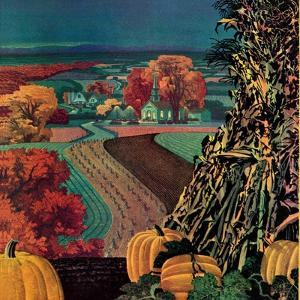 """""""Thanksgiving Harvest at Night,""""November 1, 1945 by Francis Chase"""