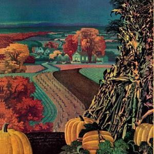 """Thanksgiving Harvest at Night,""November 1, 1945 by Francis Chase"