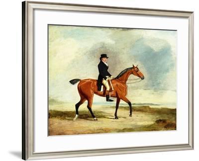 Francis Const on His Bay Hunter Riding Near the Sea, 1806-Benjamin Marshall-Framed Giclee Print