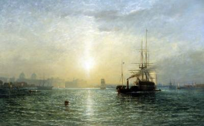 Evening on the Thames by Francis Danby