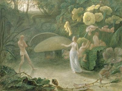 Oberon and Titania, a Midsummer Night's Dream, Act Ii, Scene I, by William Shakespeare (1566-1616) by Francis Danby