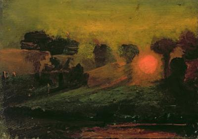 Sunset through Trees, c.1855 by Francis Danby