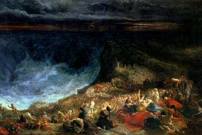 The Delivery of Israel - Pharaoh and His Hosts Overwhelmed in the Red Sea, 1825 by Francis Danby