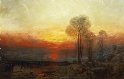 Winter Sunset - a Slide, 1850 by Francis Danby