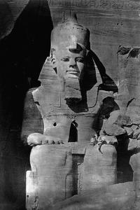 Statue of Ramses II at the Temple of Ramses II by Francis Frith
