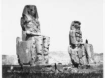 Statue of Ramses II at the Temple of Ramses II-Francis Frith-Photographic Print