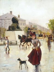 Paris Street Scene by Francis Garat