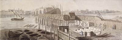 Construction of Blackfriars Bridge, C1762
