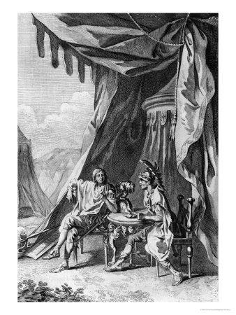 """Brutus and Cassius in Brutus's Tent, Act IV Scene III from """"Julius Caesar"""" by William Shakespeare"""