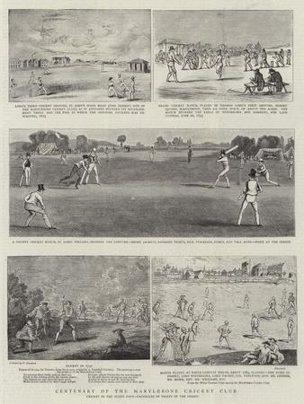 Centenary of the Marylebone Cricket Club