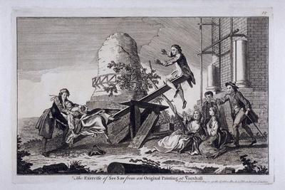 The Exercise of See Saw, Vauxhall Gardens, Lambeth, London, C1745