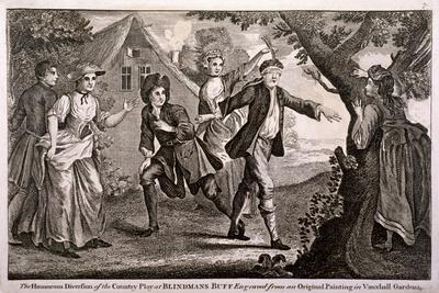 The Humorous Diversion of the Country Play at Blindmans Buff, Vauxhall Gardens, London, C1745