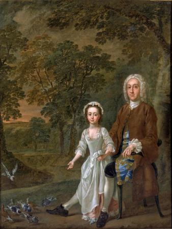 William Ellis and His Daughter Elizabeth, C.1745