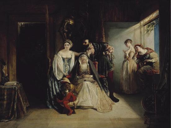 Francis I and Diane De Poitiers-Daniel Maclise-Giclee Print