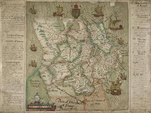 Map Of Ulster by Francis Jobson