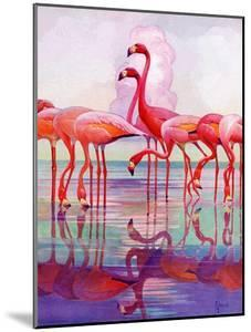 """Pink Flamingos,""January 29, 1938 by Francis Lee Jaques"