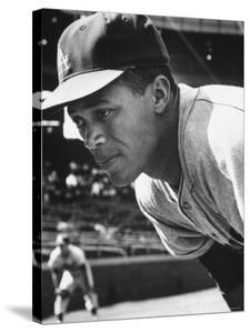 Baseball Player for Los Angeles Dodgers Maury Wills by Francis Miller