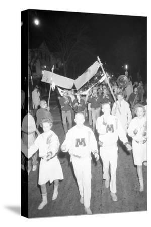 Cheerleaders at the Minnesota- Iowa Game, Minneapolis, Minnesota, November 1960