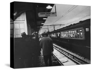 Close Up of Chicago North Shore Railroad Commuters by Francis Miller