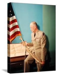 Gen. Dwight D. Eisenhower in Uniform by Francis Miller