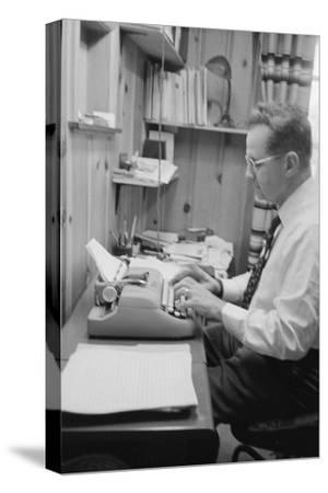 Head of Wright Aero Medical Lab Col. John P. Stapp Writing His Book at Home, Dayton, Ohio, 1959