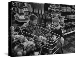 Kids in Supermarket, Experiment by Kroger Food Foundation, Children Let Loose in Kroger Supermarket by Francis Miller