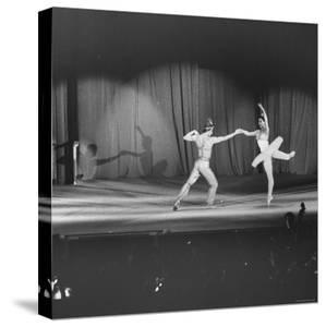 Margot Fonteyn and Rudolf Nureyev Performing at Pres. Lyndon B. Johnson's Inaugural Gala by Francis Miller