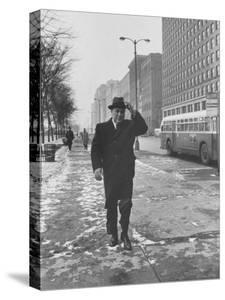 Mayor Richard J. Daley Walking Through the City by Francis Miller