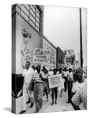 Negro Demonstration for Strong Civil Right Plank Outside Gop Convention Hall
