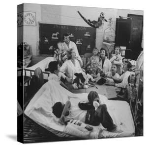 Nurses and Animals Watching One of the Hospital's Methods of Using Therapy with Animals by Francis Miller
