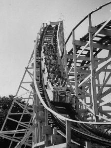 People Riding in a Roller Coaster by Francis Miller