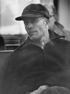 Portrait of Ed Gein, Alleged Mass Murderer by Francis Miller