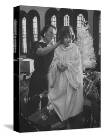 Preparations for Christmas Pageant at Bryn Mawr Community Church and at Orphanage